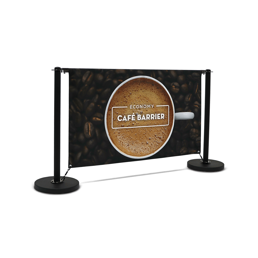 Economy Café Barrier (1500 Double-Sided Front)