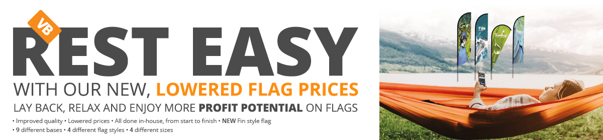 Lowered prices on Flags