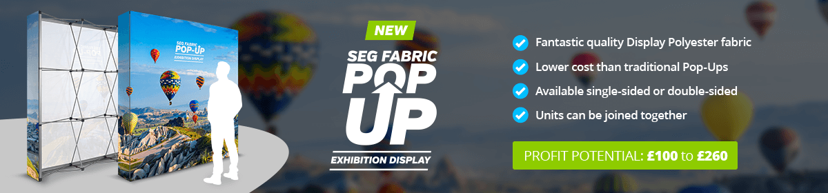 New: SEG Fabric Pop-Ups